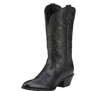 Ariat black cowboy boots size 8